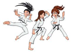 Mädchen beim Karate