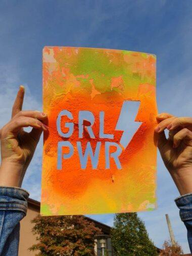 Sprühaktion GirlPower